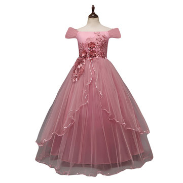 Flores Meninas Vestidos Pageant Dress For 8-15Y
