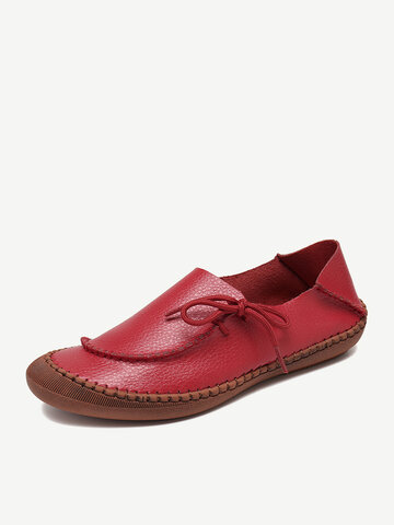 Cow Split Leather Non Slip Loafers