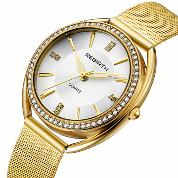 Diamond Dial Damen Armbanduhr