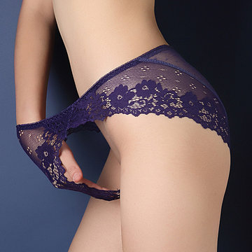 Sexy Hollow Lace Embroidered Stretchy Seamless Panties