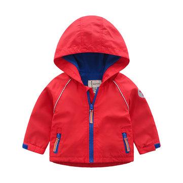 Hooded Boys Thicken Jacket For 2Y-9Y
