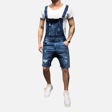 Men's Denim Overalls Suspenders
