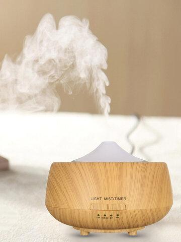 Humidificador ultrasónico que cambia de color, veta de madera clara LED Aroma Difusor Aromaterapia Spa Essential