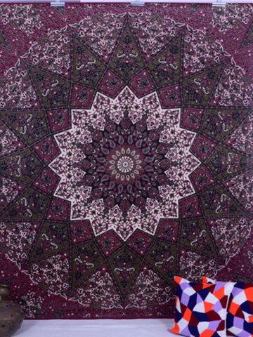 Indian Mandala Tapestry Wall Hanging Blanket Throw Bohemian Dorm Bedspread Decoration