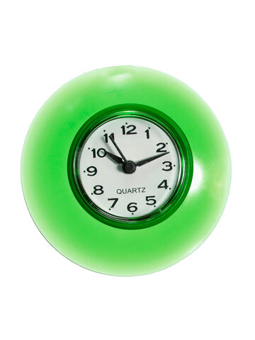 Silicone Suction Wall Clock Water-Resistant Bathroom & Kitchen Decor Analog