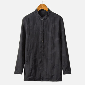Chinese Style Jacquard Long Sleeve Shirt