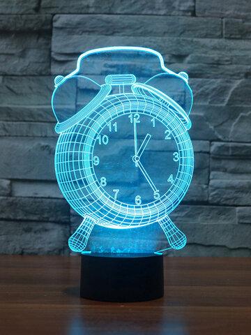 目覚まし時計ランプ3DビジュアルLEDナイトライト