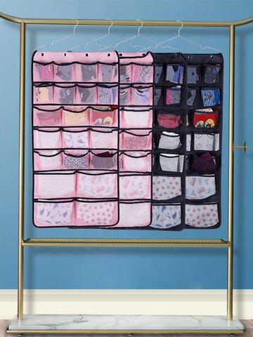 Non-woven Cloth Mesh Yarn 42 Grid Storage Bag Household Items Finishing Underwear Storage Hanging Bag