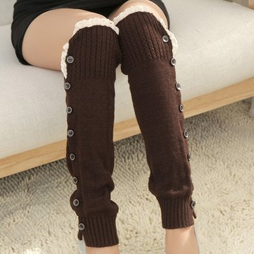 Fashion Korean Style Knitting Boots Long Stocking Long Leg Protective Socks Hosiey