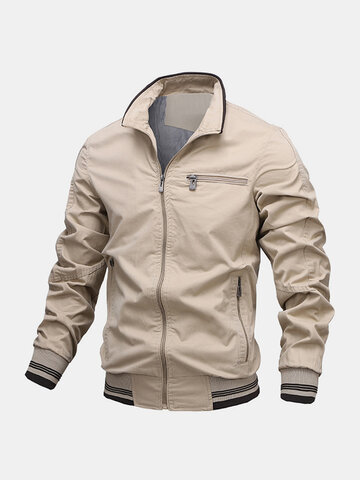 100% Cotton Stand Collar Jackets