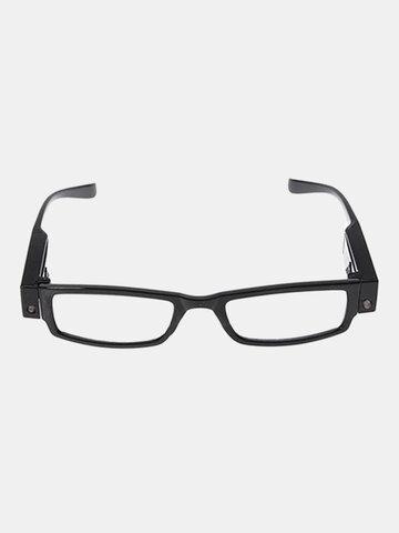 Rimmed Reading Glasses Eyeglasses Spectacal With LED Light