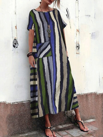Bohemian Multi Color Maxi Dress