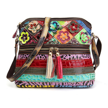 Women Floral Vintage Crossbody Bag Girls Casual Shoulder Bag