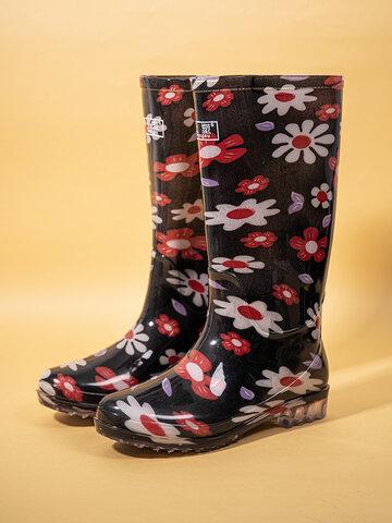 Warm Lining Waterproof Non-slip Rain Boots
