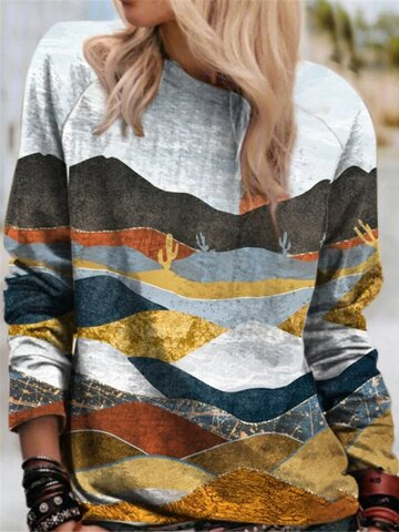 Natural Scenery Casual Blouse