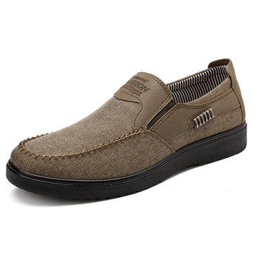 Chaussures Casual Antidérapantes en Tissu Style Ancien Pékin à Couture pour Homme
