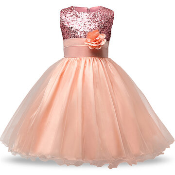 Sequins Tulle Girl Party Pageant Dress