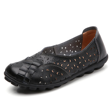 Handmade Leather Flats Loafers