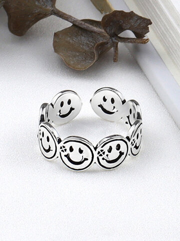 Alloy Smile Couple Ring