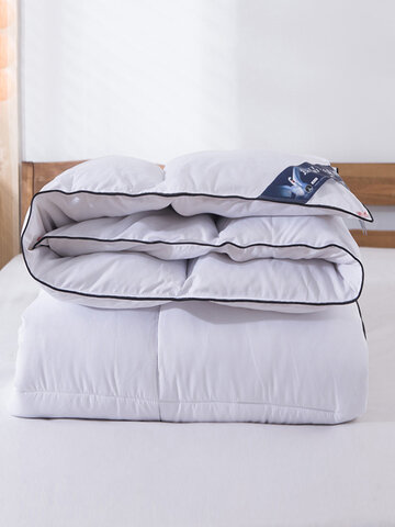 1Pc Plain Color Thickened Duvet 95 White Goose Down Winter Duvet Comfy Bedding Single Double Warmth Quilt