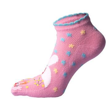 Cartoon Rabbit Five Toes Ankle Socks