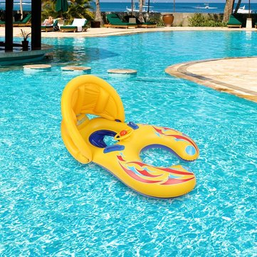 Mother Baby Swimming Pool Float Beach Toys Inflatable Children Safety Ring Seat Canopy