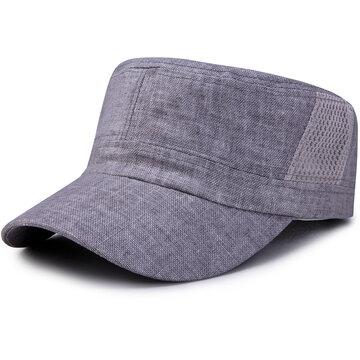 Wide Brim Cotton Flat Cap