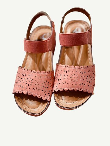Women Comfy Elastic Strap Platform Sandals