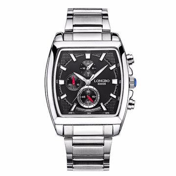 LONGBO Casual Quartz Водонепроницаемый светящийся указатель Watch