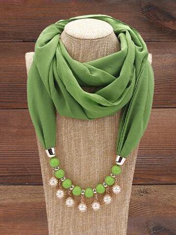 Pearl Tassel Chiffon Multi-layer Necklace