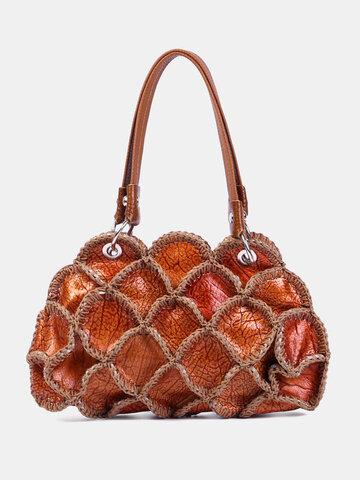 حقيبة عملات معدنية بتصميم أنيق من الجلد الطبيعي