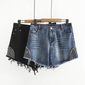 Women's Denim Shorts Tide Season Loose Thin Hot Pants