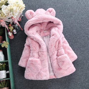 Soft Fleece Girls Thicken Coat For 2-11Y