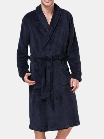 Thick Coral Fleece Bath Robe