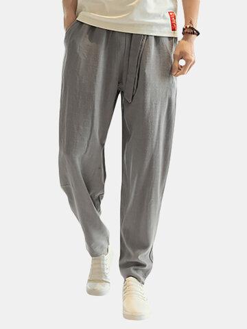 Pantaloni Sciolti in 100% Cotone Traspirante