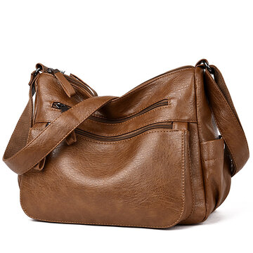 Women Soft PU Crossbody Bag