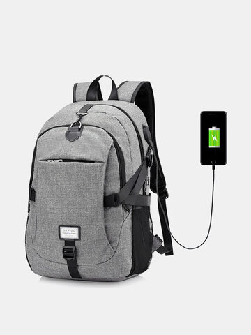 17 Inch Laptop Bag USB Charger Business Backpack
