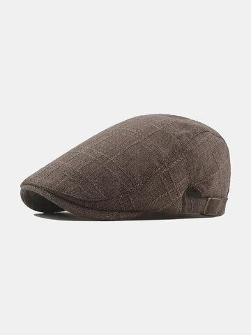 Men Cotton Retro Sunvisor Forward Hat Beret Hat Flat Cap