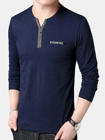95%Cotton Well-absorbent Breathable Button Tee