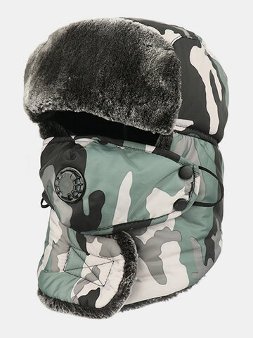 Men Cold-proof Winter Camouflage Pattern Trapper Hat