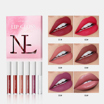 6 Colors Matte Lipstick Set