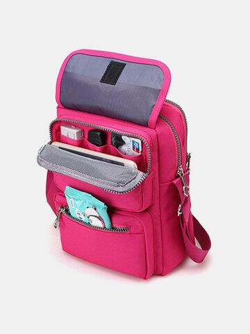 महिला Nylon यात्रा पासपोर्ट बैग क्रॉसबॉडी यात्रा बैग