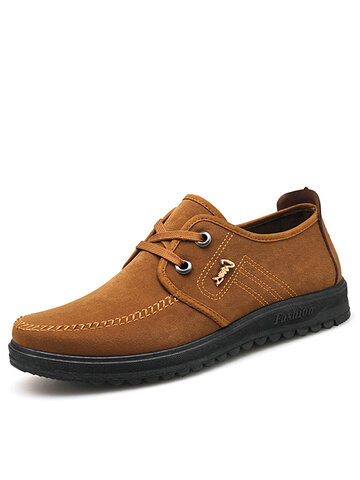 Men Mature Round Toe Loafers Shoes