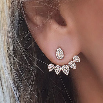 Trendy Flower Rhinestones Earrings