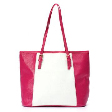 Elegante Damen Handtasche aus Leder in Kontrastfarbe