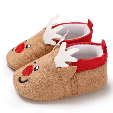 Baby Toddler Shoes Cute Cartoon Little Elk Toe  Warm Snow Boots