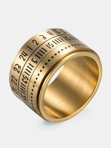 Titanium Steel Time Ring