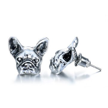 Unisex French Bulldog Stud Earrings