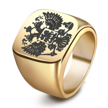 Fashion Double Eagle Ring for Men