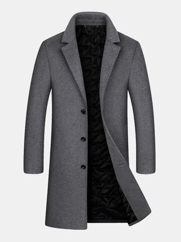 Woolen Mid-Length Overcoats